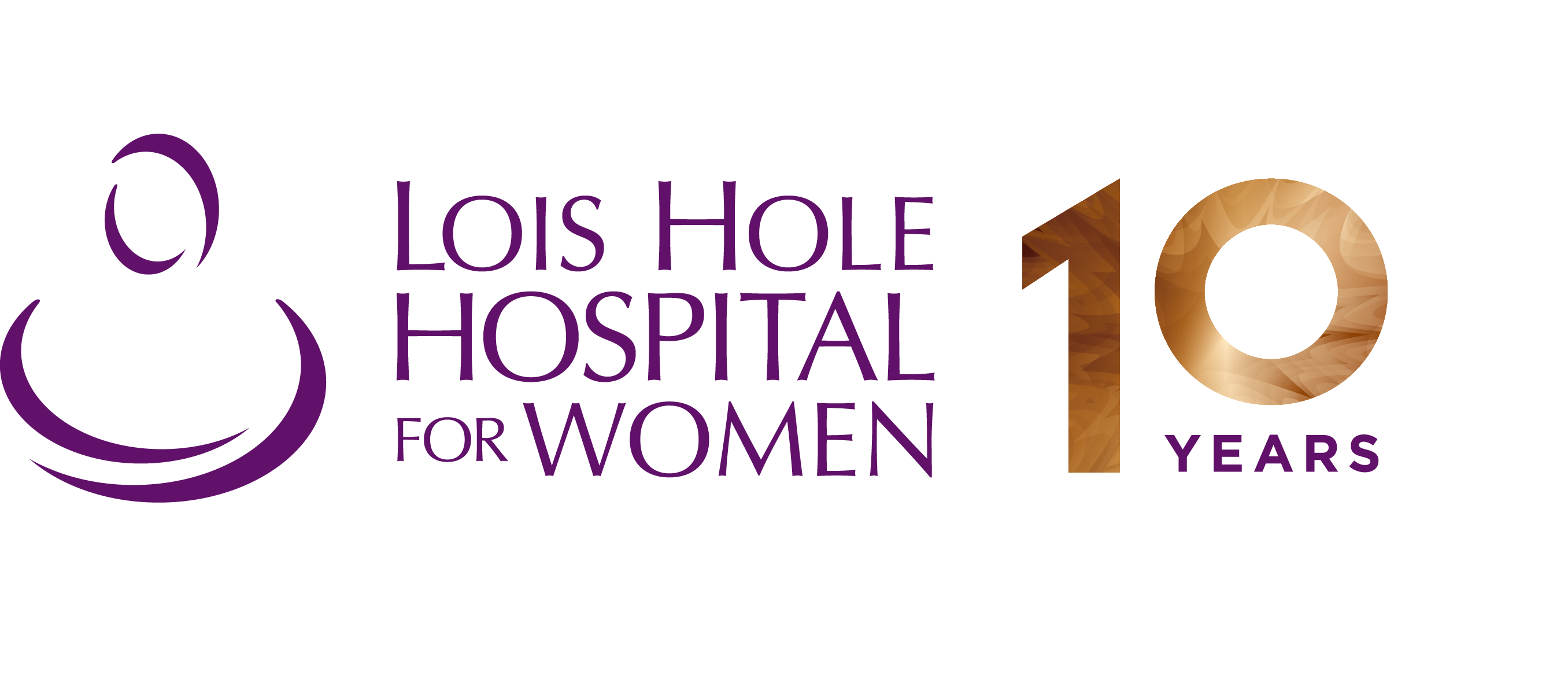 Lois Hope Hospital for Women 10 Year Logo